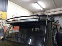 Кронштейн для установки веткоотсекателей и светодиодной балки на а/м УАЗ-452, разборный