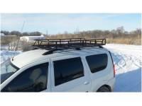 Багажник на Ларгус Экспедиция с сеткой 50х50