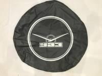 Чехол запасного колеса (винил/кожа, серый с резинкой)