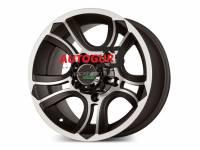 Диск колесный литой CRANK черно-серебристый R16x8 5x139.7 d108.2 ET 0 PDW