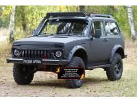 Решетка «Злая» радиатора с черной сеткой Lada (ВАЗ) Нива 2131 -, шагрень, оригинал