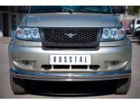 Защита переднего бампера D76/42 (дуга) на УАЗ Патриот до 2014г.